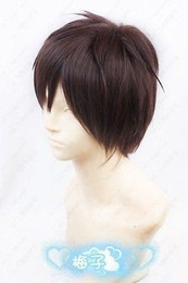 Wholesale Attack Titan Wigs - Details about Japan Anime Attack On Titan Eren Jaeger Short Dark Brown Cosplay Anime Party Wig