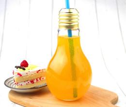 Wholesale Tea Desk - Creative Eye-catching Light Bulb Shape Tea Fruit Juice Drink Bottle Cup Plant Flower Glass Vase Home Office Desk Decoration