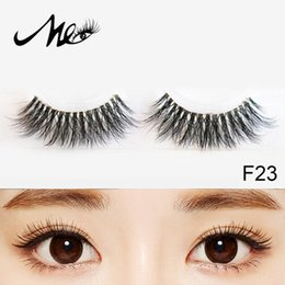 Wholesale Natural Look Eyelashes - Reusable Handmade 3D Mink Fur Invisible Flexible Band Fake Eyelashes Natural Looking Reuseable freight free