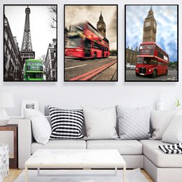 Wholesale England Stickers - Minimalist England France Street View Home decoration works Sticker wall layout Room wall decoration wall art