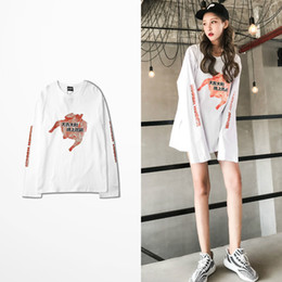 Wholesale China Man T Shirt - Oversize China Tide Wind T Shirt Long Sleeve Men Casual Wear Chinese Letter Print T-shirt Male Harajuku Tee Shirt Homme