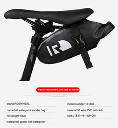 Wholesale Panniers Road Bike - Saddle Bags Bike Bicycle Cycling Bags Panniers Full Waterproof PVC Accessories Rear Tail For MTB Road Bike Free Shipping 2509038