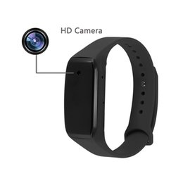 Wholesale Perfect Camera - 5pcs lot HD 1080P Sports Wearable Bracelet Portable Spy Camera Wristband Hidden Camera Executive Multifunction DVR Perfect Gift Mini DV