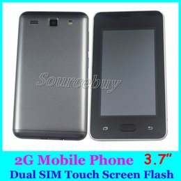 Wholesale cheap touch screen cellphones - 2G GSM Cheap Mobile Phone H-Mobile J7 Prime 3.7 inch Touch Color Screen Support Dual SIM TF Card Back Camera Flashlight Cellphone