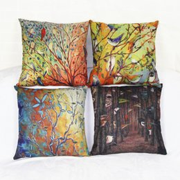 Wholesale Simple Linen Cushion Cover - The new style creative European style art painting cushion cover simple synthetic linen cushion for the pillow