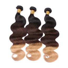 Wholesale Peruvian Hair 27 Pc - 1B 4 27 Body Wave Human Hair 3 Pcs Brazilian Hair Bundles 9A Peruvian Indian Malaysian Virgin Hair Weave Extensions