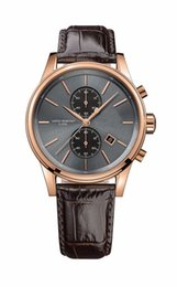Wholesale Tungsten Gold Watch - 1513281 Mens Chronograph Rose Gold Brown Leather Strap Watch