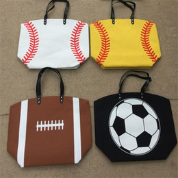 Wholesale Wholesale Cotton Tote - Baseball football Totes basketball Handbag Large Capacity volleyball Bags For Travel Storage Handbags High Quality C2382