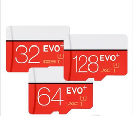 Wholesale Uhs Card - 80 pcs EVO Plus 32GB 64GB 128GB Class10 UHS-1 MicroSDHC TF SD Card for Android Powered Tablet PC Digital SmartPhones Up 80MB s EVO+