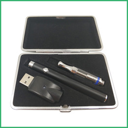 Wholesale ego manual - Custom logo CE3 bud touch vape pen manual button battey 510 ego charger 92A3 glass atomizer vaporizer cartridge Metal Case starter kit