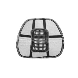 Wholesale Mesh Back Support Seat - comfortable mesh chair relief lumbar back pain support car cushion office seat chair black lumbar cushion