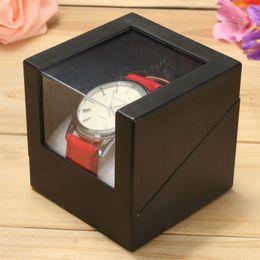 Wholesale Wrist Watch Storage - Black Wrist Watch Box 7.3x7.3cm Plastic Earring Display Storage Holder Jewelry Transparent Case Walentine's Day Anniversary Gift box