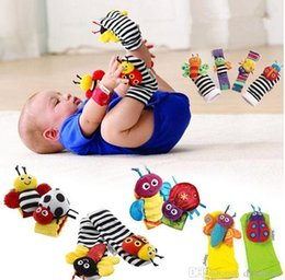 Wholesale Lamaze Baby Rattle Socks - Sozzy Wrist Rattle Foot Finder Baby Toys Baby Rattle Socks Lamaze Plush Lamaze Style Wrist Rattle and Socks Toys Donkey Zebra DHL 600pcs