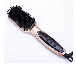 Wholesale Ion Comb - LCD straight hair comb negative ion hair care ceramic multi-function hair straightener