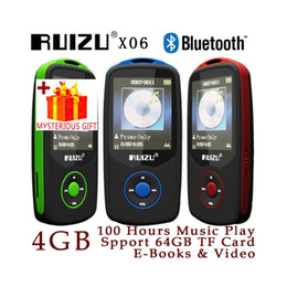 Wholesale Media Player Recorders - Wholesale- Ruizu X06 Digital Lossless Sport Hifi Audio Screen Mini Mp 3 Music Mp3 Player Bluetooth Radio FM With Flac Lcd Running SD Media