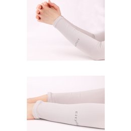 Wholesale Thin Arm Sleeves - Outdoor Sunscreen Sleeve Sports Sunscreen Gloves Sun and Summer Outdoor Ice Driving Arm Cuff Sleeves Riding Long Thin Gloves Sunscreen