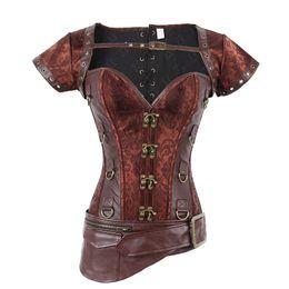 b98e7dc156 Wholesale- Steampunk Underbust Corset Burlesque Costumes Waist Corsets  Steel Boned Gothic Clothing SEXY WOMEN S CORSET