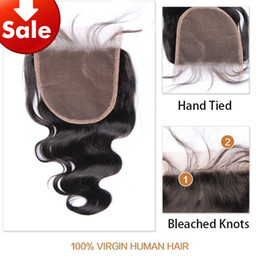 Wholesale Side Parting Brazilian Hair Closure - Cheap Closure Brazilian Virgin Closure Brazilian Free Middle Part Lace 3 Part Closure Body Wave Human Hair Peruvian Malaysian Indian 5x5