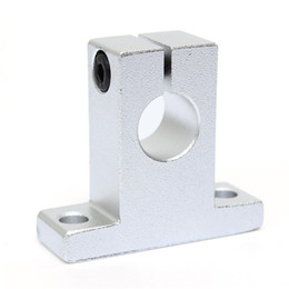 Wholesale Linear Support 8mm - New SK8 8mm Linear Bearing Rail Shaft Support Linear Rail Vertical Bearings Shaft Guide Support Bracket 42x14x32.8mm Industry Toos