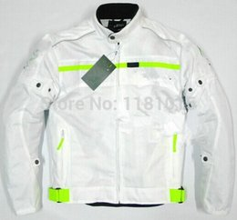 Wholesale Racing Bike Jackets Free Shipping - Free shipping motorcycle jacket summer mesh racing jackets bike bicycle protection jacket with 5 sets equipment