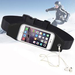Wholesale Elastic Running Belt - Running Belt For iPhone Android Smart phone Sports Waist Bag Reflective Pouch Breathable Sport Waist Belt Elastic Adjustable Band 800775