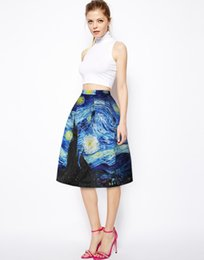 Wholesale Ethnic Print Skirts - Winter Denim Skirts Ladies High Waist Maxi Printed Skirts Long A Line Skirt Linen Ethnic Bohemian Style Women's Clothing Long Skirts