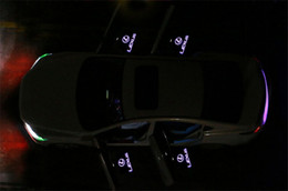 Wholesale Welcome Projector Lights - 2pcs LED Car door Welcome laser projector Logo Ghost Shadow Light For Lexus RX GS 300 400 430 350 450 h HS IS LS LX 570 ES SC