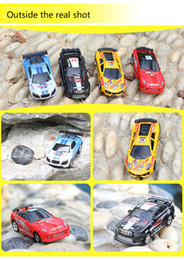Wholesale Racer Rc - Free Epacket 8 color Mini-Racer Remote Control Car Coke Can Mini RC Radio Remote Control Micro Racing 1:64 Car 8803 In stock