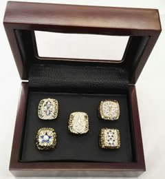 Wholesale Three Stone Wholesale Settings - 1971 1977 1992 1993 1995  Super bowl Championship Ring 5pcs Set with wooden box