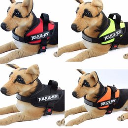 Wholesale Dogs Cloths - Reflective JULIUS Police K9 Dog Harnesses Pet In Training Vest Large Medium Small Dog Harness Free Shipping