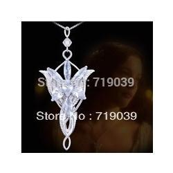 Wholesale Gs Jewelry - The Lord of the Rin gs Necklace Evening Star Pendant Necklace crystal Twilight star pendant necklace women jewelry wholesale Hot