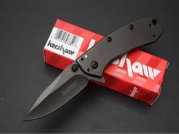 Wholesale Frames Steels - Kershaw Cryo A O Folding Blade Knife 1555TI 8Cr13Mov Stainless Steel Plain Flipper Frame Lo Tactical Knife Pocket Knife B278L