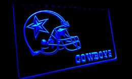Wholesale Helmet Party - LS050-b Dallas Cowboys Helmet NR Bar Neon Light Sign Decor Free Shipping Dropshipping Wholesale 6 colors to choose