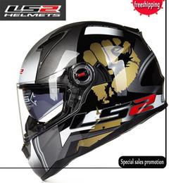 Wholesale Ece Motorcycle Full Face Helmet - LS2 FF396 glass fiber helmet full face motorcycle helmet dual lens with airbag bike helmets ECE Capacete motoqueiro casque moto
