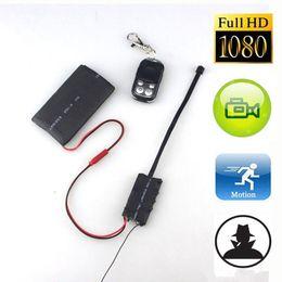 Wholesale Hidden Camera Board - Full HD DIY Module Board Spy DVR 1080P Wireless Spy Hidden Camera with Remote Control and Big Battery in Package S01