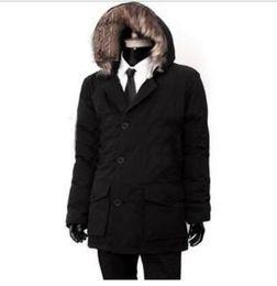 Wholesale Rich Coats - Hot selling brand w - rich men in long down jacket man more warm coats Down & Parkas