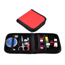 Wholesale Wholesale Sewing Notions - New Arrival of Outdoor Sports Travel Hiking Emergencies Notions DIY Scissor Needle Tape Thread Sewing Kit 25pcs Set 2016 New Arrival 2503024