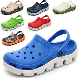 Wholesale Gardening Shoe Slippers - Brand Men Sandal Flip Flops Shoes Casual Summer Beach Slip On Garden Shoes Hollow Out Sandals Beach Hole Mens Slippers Shoes plus size 44 45