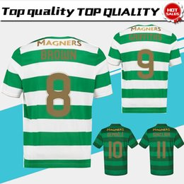 Wholesale Lavender Brown Black - SINCLAIR home green white Soccer Jersey 17 18 DEMBELE away Soccer Shirt 2018 Customized BROWN GRIFFITHS football uniform Sales