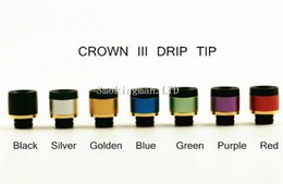Wholesale Tanks For E Cigs - Uwell Crown 3 Drip Tip 510 Style Drip Tip Fit for Uwell Crown 3 Tank Varoius Colors 100% Atomizer Mouthpiece e cigs