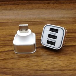 Wholesale Charger Combo - Multi USB 2.0 Combo Hub one usb to 3 USB ports Splitter charger Portable For mobile phone