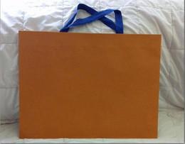 vendita all'ingrosso New Packaging Paper Shopping Gift Bag colore arancione 43cm da f1 luce fornitori