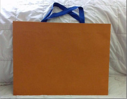 vendita all'ingrosso New Packaging Paper Shopping Gift Bag colore arancione 43cm da