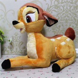 Wholesale Bambi Toys - Wholesale- 35cm Lovely Cartoon Little Deer Bambi Plush Stuffed Toy Christmas Doll Gifts