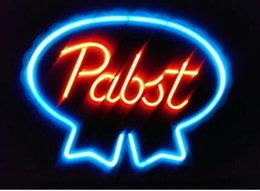"Wholesale Residential Glass Walls - Blue Ribbon Pabst Neon Sign Custom Handmade Real Glass Pub Store Club Display Neon Signs Home Decoration Wall Art Gift 19""X15"""