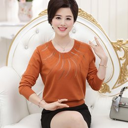 Wholesale Cheap Long Sleeve Pullover Sweater - Wholesale- 2016 new women's simple long-sleeved pullover autumn and winter round neck bottoming warm cheap fashion sweater free shipping