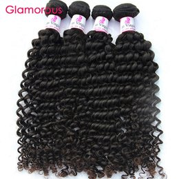 Glamorous Brazilian Virgin Hair Curly Human Hair Products 4Pcs Same Length Mix Length 100g Malaysian Peruvian Indian Remy Human Hair Weaves Deals