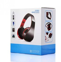 Wholesale Bluetooth Casque - New Wireless Music Bluetooth V4.1 Headset Stereo Casque Audio Earphone Foldable Headphones with MIC for iPhone and Android Smartphone