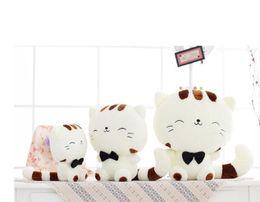 Wholesale Big Huge Cute - Cute 30cm CAT Plush Doll Stuffed Soft Toy Cute Huge White Bear Wear Bowknot Kids Toys Birthday Gift for Girl&Chi]F