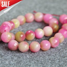 Wholesale 15inch Necklace - New Necklace&Bracelet Accessories 12mm Multicolor Lovely Purple&Pink jade Jasper beads loose beads DIY stones 15inch Jewelry
